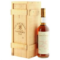 The Macallan Anniversary Single Highland Malt 25 year old 1966 Bottle-70 cl