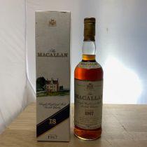 Whisky Macallan Single Malt 18 year old 1967 Bottle-70 cl