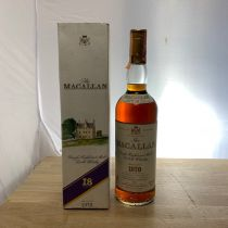 Whisky Macallan Single Malt 18 year old 1970 Bottle-70 cl