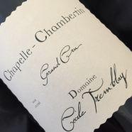 Domain Cecile Tremblay Chapelle Chambertin 2017